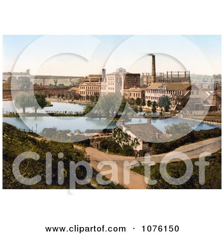 the Factory of Burroughs Wellcome Chemical Works in Dartford, Kent, London, England, United Kingdom - Royalty Free Stock Photography  by JVPD