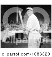 The Giants Baseball Player Jim Thorpe At Polo Grounds Holding A Baseball Bat Free Historical Baseball Stock Photography by JVPD