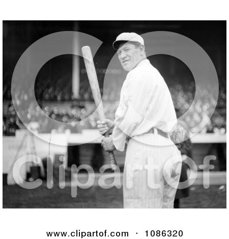 The Giants Baseball Player, Jim Thorpe, At Polo Grounds, Holding A Baseball Bat - Free Historical Baseball Stock Photography by JVPD