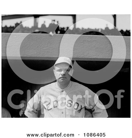 The Great Bambino of the Boston Red Sox - Free Historical Baseball Stock Photography by JVPD