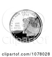 The Old Man Of The Mountain Formation On The New Hampshire State Quarter Royalty Free Stock Photography by JVPD