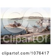 The Pier And DrakeS Island In Plymouth Dorset England UK Royalty Free Stock Photography