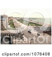 The Promenade In Front Of Coastal Buildings In Southport England UK Royalty Free Stock Photography
