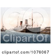 The RMS Campania Steamboat On The Mersey River In England Royalty Free Stock Photography by JVPD