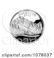 The Rocky Mountains On The Colorado State Quarter Royalty Free Stock Photography by JVPD