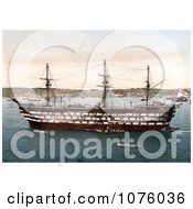 The Royal Navy HMS Impregnable Training Ship In Plymouth Devon England UK Royalty Free Stock Photography by JVPD