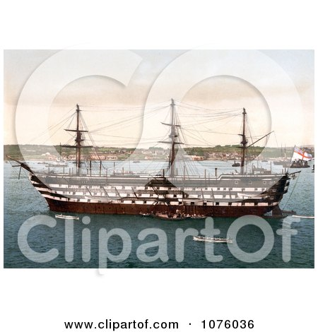 The Royal Navy HMS Impregnable Training Ship in Plymouth Devon England UK - Royalty Free Stock Photography  by JVPD