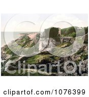 The Ruins Of Rufus Castle On The Coast Over Church Ope Cove Isle Of Portland Dorset England Royalty Free Stock Photography