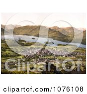 The Village Of Keswick Near The Lake Of Derwentwater And Mountains Lake District Allerdale Cumbria England UK Royalty Free Stock Photography