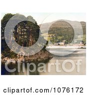 The Waterhead Hotel On The Shore Of Lake Windermere With Brathay Rock In The Foreground Lake District Cumbria England UK Royalty Free Stock Photography