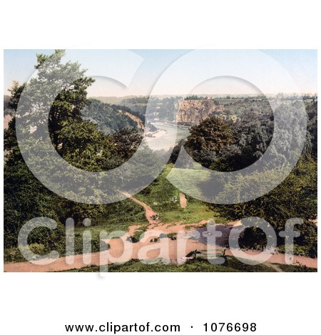 tHistorical he River Avon as Seen From Clifton Downs, Bristol, England - Royalty Free Stock Photography  by JVPD