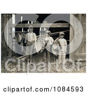 Three Leaf Boys Carrying Tobacco Leaves While Working On A Farm In 1917 Free Historical Stock Photography Photography by JVPD
