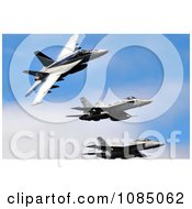 Three Military Aircraft In A Blue Sky Free Stock Photography by JVPD