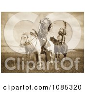 Three Sioux Chiefs On Horses Free Historical Stock Photography by JVPD