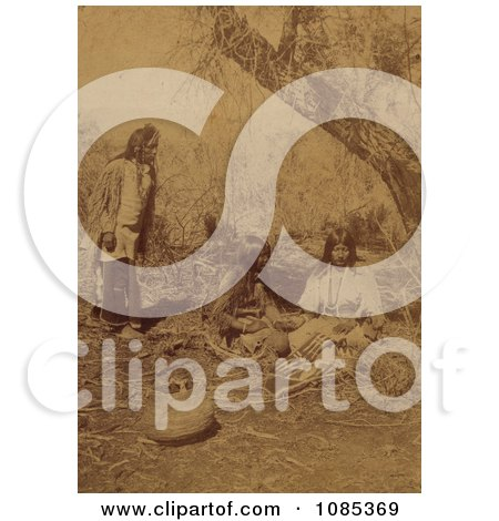 Three Ute Natives - Free Historical Stock Photography by JVPD
