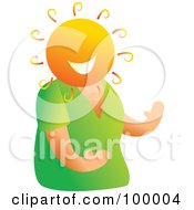 Royalty Free RF Clipart Illustration Of A Woman With A Sun Face