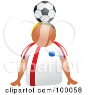 Royalty Free RF Clipart Illustration Of A Soccer Player With A Ball On His Head by Prawny