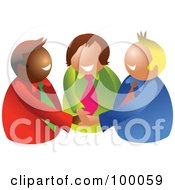 Royalty Free RF Clipart Illustration Of A Business Team Piling Their Hands