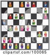 Royalty Free RF Clipart Illustration Of Business People Playing A Game Of Executive Chess