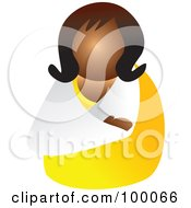 Royalty Free RF Clipart Illustration Of A Woman With A Broken Arm