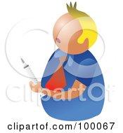 Unhealthy Man Holding A Syringe