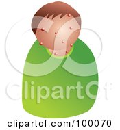 Royalty Free RF Clipart Illustration Of An Unhealthy Man With Acne
