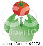 Royalty Free RF Clipart Illustration Of A Businessman With A Tomato Face