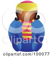 Royalty Free RF Clipart Illustration Of A Lady In Winter Clothing
