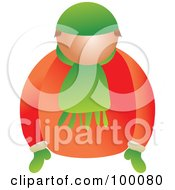 Royalty Free RF Clipart Illustration Of A Man In Winter Clothing