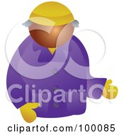 Royalty Free RF Clipart Illustration Of A Guy In Winter Clothing