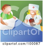 Royalty Free RF Clipart Illustration Of A Friendly Nurse Talking With A Patient In A Hospital by Prawny