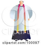 Royalty Free RF Clipart Illustration Of A Happy Vicar