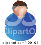 Royalty Free RF Clipart Illustration Of An Unhealthy Overweight Man
