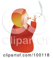 Royalty Free RF Clipart Illustration Of An Unhealthy Smoking Woman by Prawny