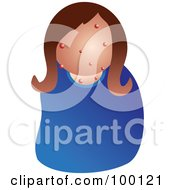 Royalty Free RF Clipart Illustration Of An Unhealthy Woman Woman With Acne