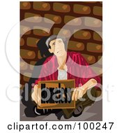 Royalty Free RF Clipart Illustration Of A Poor Man Holding A Homeless Sign by mayawizard101