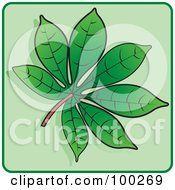 Royalty Free RF Clipart Illustration Of A Green Leaf Icon 4