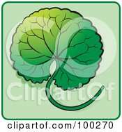 Royalty Free RF Clipart Illustration Of A Green Leaf Icon 7