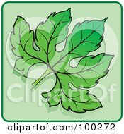 Royalty Free RF Clipart Illustration Of A Green Leaf Icon 2