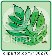 Royalty Free RF Clipart Illustration Of A Green Leaf Icon 1