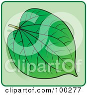Royalty Free RF Clipart Illustration Of A Green Leaf Icon 3