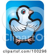 Royalty Free RF Clipart Illustration Of A Blue Dove Icon 6 by Lal Perera