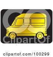 Royalty Free RF Clipart Illustration Of A Golden Van