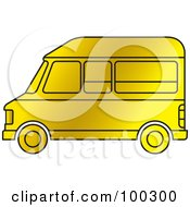 Royalty Free RF Clipart Illustration Of A Gold Van by Lal Perera