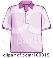 Royalty Free RF Clipart Illustration Of A Pink Shirt by Lal Perera