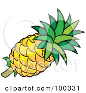 Royalty Free RF Clipart Illustration Of A Fresh Pineapple by Lal Perera