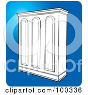 Royalty Free RF Clipart Illustration Of A White Cupboard