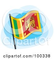 Royalty Free RF Clipart Illustration Of A Sri Lankan Flag