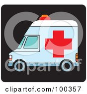 Royalty Free RF Clipart Illustration Of An Ambulance Icon