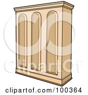 Royalty Free RF Clipart Illustration Of A Wooden Cupboard